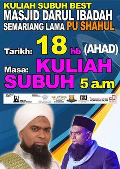 Pengenalan Biodata PU Shahul oleh Pengacara Majlis Ceramah PUShahul Masjid Samariang Lama di Kuching pada kuliah subuh 18 Oktober 2015.