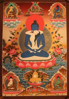 Samantabhadra Adi Buddha Thangka Painting Tibetan Handmade in Nepal by ShakyaHandicraft on Etsy