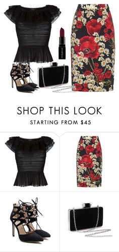 """Print"" by carenpolo ❤ liked on Polyvore featuring Alexander McQueen, Dolce&Gabbana and Smashbox"