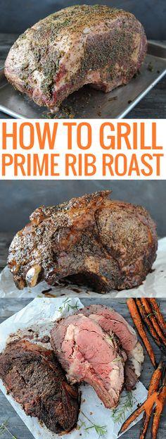 Grilled Prime Rib Roast - Another! Rib Roast On Grill, Beef Rib Roast, Ribs On Grill, Pot Roast, Cooking Steak On Grill, Ribeye Roast, Roast Brisket, Cooking Ribs, Bbq Ribs