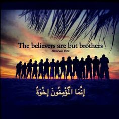 """BELIEVERS. It doesn't say """"muslims"""", it is about all the believers. Every one who believe in God is a believer. There is also a quote by Imam Ali that says: there are two kind of people, the first is a human just like you, the second is your brother in religion. It means that we should all be good to each other. Before religions and beliefs, we are humans. We are one."""