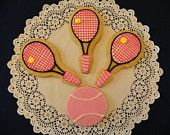 Tennis Cookies. $48.00, via Etsy.