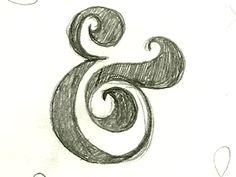 Ampersand timelapse gif - love #ampersand  Now that I know how easy it is to draw, I draw ampersands all the damn time.