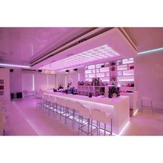 Pink Lighting Of Denispopov Bar In Saint Petersburg By Oleg Igolinsky Design Home Interior