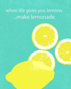 Lemons Lemonade Life Quote Typography Words by DawnSmithDesigns, $28.00