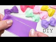 Amazing Elegant bows Super Easy way Ribbon Bow Tutorial, Hair Bow Tutorial, Crochet Bows, Bow Accessories, Diy Hair Bows, Ponytail Holders, Ribbon Bows, Diy Hairstyles, Hair Bows