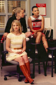 "Naya Rivera, Dianna Agron & Heather Morris aka The Unholy Trinity in ""Goodbye"""