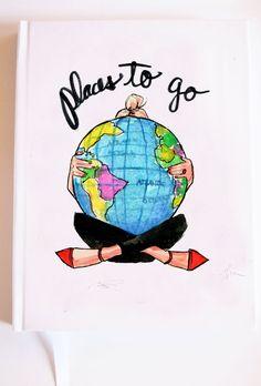 Reisebericht: Places to Go von AThingCreated auf Etsy
