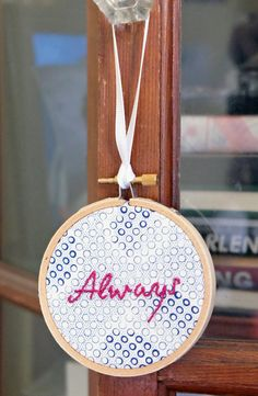 Always hand-embroidered wall hanging / wall art