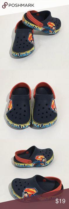 Boys DC Comics Superman Crocs Sz 8/9 Boys Superman Crocs child size 8/9. Great condition traditional signs of wear CROCS Shoes Sandals & Flip Flops