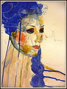 """WoMaN in BluE"" cAmille ©  site : http://camilleart.e-monsite.com/  facebook : https://www.facebook.com/cAmilleartiste?ref=hl"