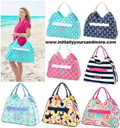 Hey, I found this really awesome Etsy listing at https://www.etsy.com/listing/151365150/monogram-beach-bags-choose-from-7