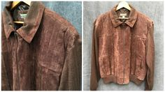 Vintage Haband Dark Brown Suede Knit Zip Sweater // Men's Size 4XL by ElkHugsVintage on Etsy