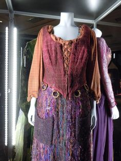 Hollywood Movie Costumes and Props: Hocus Pocus Original film costumes and props on display
