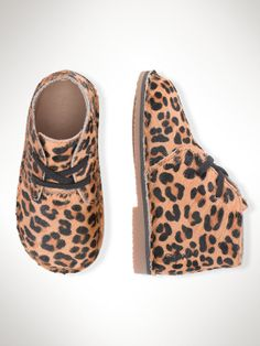 Love Leopard in the Fall! Carl Leopard Boot - Toddler 4-10 Shoes - RalphLauren.com #ColorfulFall #PinParty #Stokke