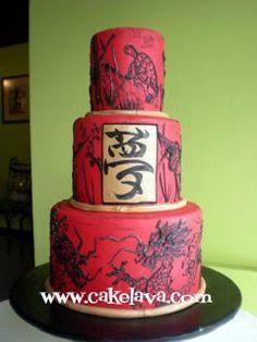 So cool looking!     cakelava: Yakudoshi Birthday Cake