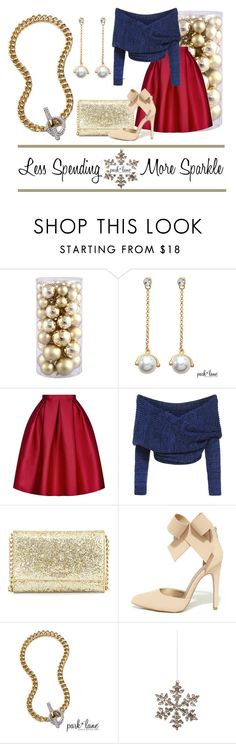 """""""Less Spending More Sparkle"""" by parklanejewelry ❤ liked on Polyvore featuring Topshop, Kate Spade, Qupid, Shishi, parklanejewelry, goldcollection, FallCollection2015, diamondcouture and moresparkle"""