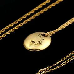 Personalized Charm Necklace, Personalize Mom Necklace, New Mom Baby Feet Gold  Necklace and Engraved Name.