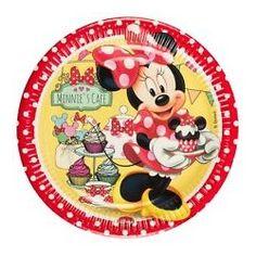 Pratos Em Cartão Para Festas De Aniversário Do Tema Minnie Café
