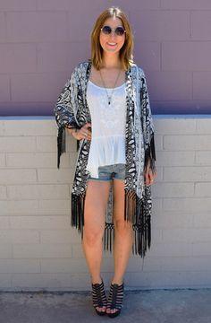 Fringe kimono--- #shopdreamgirls