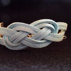 Bracelet noeud marin bleu ciel
