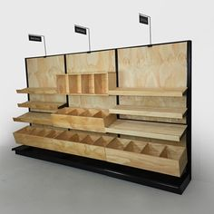 """bakery bread display rack   TEXASTOAST - Wooden Baked Goods Display - Stained Custom Colors Free! 84""""H Wall x 144""""W"""