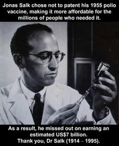 Truth be told...  A scientist with compassion, so lacking with today's right wingers.