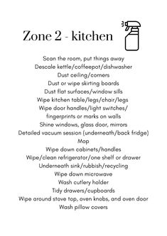 Flylady Zone Ideas (PRINTABLES)   DianeDenmark.com Fly Lady Cleaning, Zone Cleaning, Household Cleaning Tips, Cleaning Checklist, House Cleaning Tips, Deep Cleaning, Spring Cleaning, Cleaning Hacks, Flylady Zones