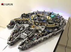 This LEGO work was created by Titan Creations and is as close to an actual representation to the interior of the Millennium Falcon as you could ever get… with LEGO.