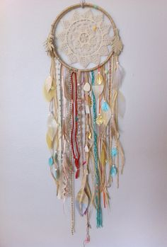 Dream Catchers shop at www.favorwe.com, these are very chic. most beautiful dream catchers I've ever seen, Fashion Dreamcatcher Waxed Nylon Cord, with Sandalwood & Turkey Feather & Velveteen & Iron shop at favorwe.com