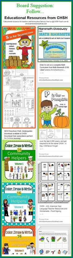 For teaching downloads for all ages as well as great giveaways, follow: Educational Resources from CHSH @ https://www.pinterest.com/lyndaackert/educational-resources-from-chsh/