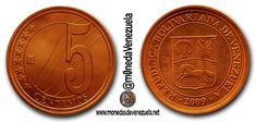 Moneda 5 Céntimos de Bolivar Fuerte  Lee el artículo completo AQUI: Moneda 5 Céntimos de Bolivar Fuerte  La moneda de 5 céntimos / Bs. 005 por Víctor Torrealba. La reconversion monetaria del 2008 creó un cono monetario con nuevas monedas y billetes. Se acuñaron siete denominaciones de monedas (1; 5; 10; 125; 25; 50 céntimos y 1 bolívar). Con respecto a las nuevas monedas el BCV escribió lo siguiente: En el nuevo cono se estrena la moneda de 1 céntimo y se renuevan denominaciones de 50 25 y 5…