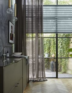 2019 Window Treatment Trends Considering windows form a central part of your home and office design and can frame your view outside or enhance your Window Treatments, Curtains Living Room, Window Decor, Home, Interior Windows, Types Of Curtains, Curtains, Blinds, Curtains With Blinds