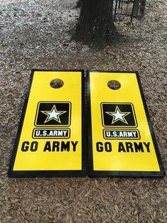 1501d3e8 Go Army Cornhole Set With Bean Bags Cornhole Set, Cornhole Boards, Painted  Corn Hole
