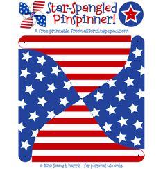 Star spangled spinner free printable  http://allsorts.typepad.com/allsorts/craft_room/index.html