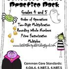 Halloween Math Practice Pack! $Paid Product