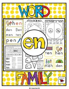 Lots of fun word work for the 'en' word family. ($)