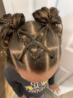Cute Toddler Hairstyles, Easy Little Girl Hairstyles, Girls Hairdos, Girls Natural Hairstyles, Baby Girl Hairstyles, Hair Due, Hair Styles, Hair Ideas, Babies