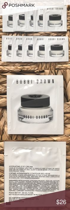 10 Bobbi Brien Hydrating Eye Cream Samples Brand New | Never Used | 10 Bobbi Brown Hydrating Eye Cream Samples. You're getting the equivalent of the full size 15ML that retails for $52. Bundle to save. Bobbi Brown Other