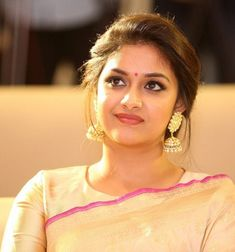 Keerthy Suresh at Pandem Kodi 2 Trailer Launch - South Indian Actress Saree Hairstyles, Indian Wedding Hairstyles, Bride Hairstyles, Most Beautiful Indian Actress, Beautiful Actresses, Traditional Hairstyle, Beautiful Girl Image, Gorgeous Lady, Stylish Girl Images