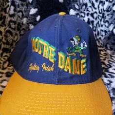 b49fcc2e Dm with any questions This is a vintage Notre Dame Fighting Irish snapback  in good condition. Depop