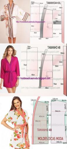 Amazing Sewing Patterns Clone Your Clothes Ideas. Enchanting Sewing Patterns Clone Your Clothes Ideas. Dress Sewing Patterns, Clothing Patterns, Sewing Clothes, Diy Clothes, Dressing Gown Pattern, Sewing Lingerie, Make Your Own Clothes, Couture Sewing, Diy Dress