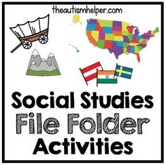 Social Studies File Folder Activities {for early childhood or special education} by theautismhelper.com