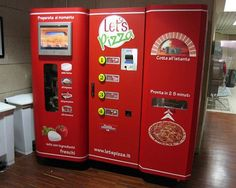 Fresh-made pizza vending machine in Italy (where else?!)