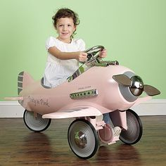 Pretty in Pink Pedal Airplane from PoshTots #PTRoyalBaby