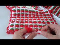 Yuvarlak Puf Çiçekli Lif Yapımı - YouTube