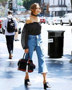 Olivia Culpo takes the plunge in a chic black-and-white outfit and lace kimono Style Outfits, Trendy Outfits, Summer Outfits, Fashion Outfits, Fashion Trends, Ootd Fashion, Fashion Pants, Fashion Tips, Looks Street Style