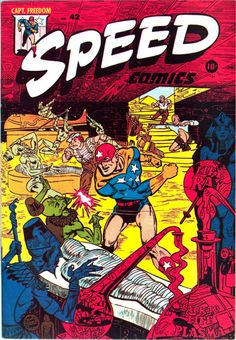 Classic cover by Rudy Palais from Speed Comics #42 published by...  Classic cover by Rudy Palais from Speed Comics #42 published by Harvey Comics March 1946.