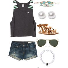 Cute outfit by ktanner02 on Polyvore featuring polyvore, fashion, style, rag & bone, K. Jacques, Nouv-Elle, Accessorize and Ray-Ban