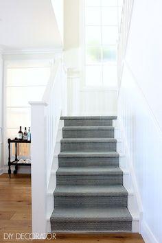 classic coastal living room stairs